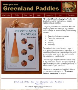 The Greenland Paddle Book Homepage von Brian Nyström